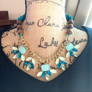 Taramanda Goldstones Gemstone Statement Necklace